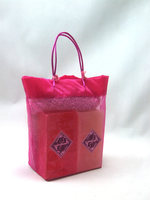 Bright Pink Gift Bag (Raspberry & Organic Oil Soaps)